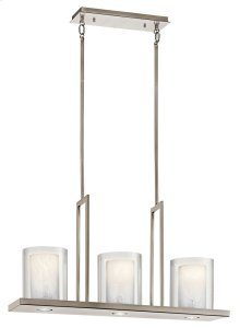 "Triad 31.25"" 3 Light Linear Chandelier Classic Pewter"