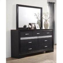 Miranda Transitional Black Seven-drawer Nightstand