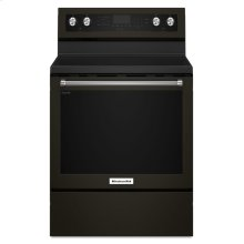 30-Inch 5-Element Electric Convection Range - Black Stainless Steel with PrintShield™ Finish