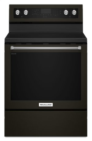 30-Inch 5-Element Electric Convection Range - Black Stainless Product Image