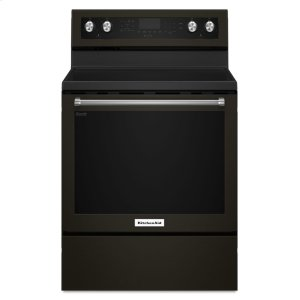Kitchenaid30-Inch 5-Element Electric Convection Range - Black Stainless