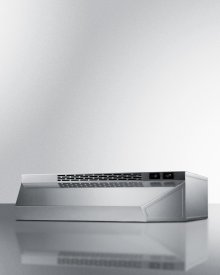 24 Inch Wide Convertible Range Hood for Ducted or Ductless Use In Stainless Steel Finish