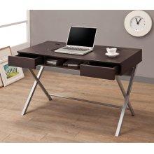 Contemporary Cappuccino Writing Desk