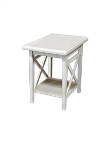 Accent Table, Available in Cottage White Finish Only.