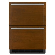 """Panel-Ready 24"""" Double-Refrigerator Drawers"""
