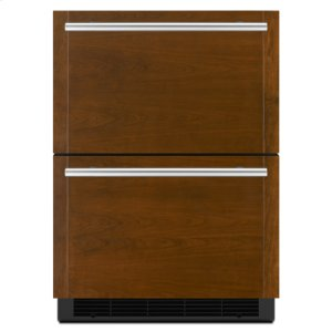 "Jenn-AirPanel-Ready 24"" Double-Refrigerator Drawers"