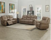 """Isabella Console Loveseat Recliner Sand 80""""x37.5""""x42"""" Product Image"""
