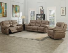 "Isabella Console Loveseat Recliner Sand 80""x37.5""x42"""