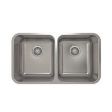 ProInox E200 50/50 Double Bowl Undermount Kitchen Sink ProInox E200 18-gauge Stainless Steel, 28'' X 16'' X 9''
