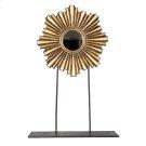 Large Gold Leaf Iron/wood Mini Mirror. Product Image
