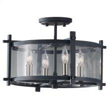 4 - Light Indoor Semi-flush Mount