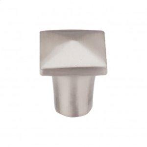 Aspen II Square Knob 3/4 Inch - Brushed Satin Nickel