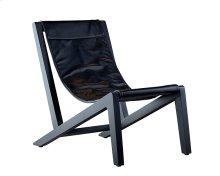 Old Saddle Black Pendulum Accent Chair