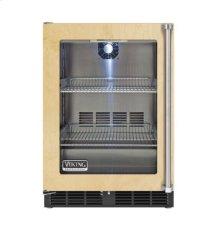 "24"" Custom Panel Undercounter Refrigerator, Clear Glass, Left Hinge/Right Handle"