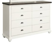 Emerald Home Mountain Retreat 8 Drawer Dresser 2 Tone Top:brown, Base: Wht B601-01