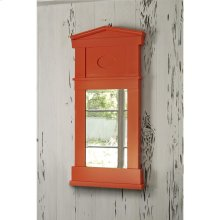 Pediment Mirror - Orange