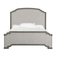 Complete King Panel Upholstered Bed