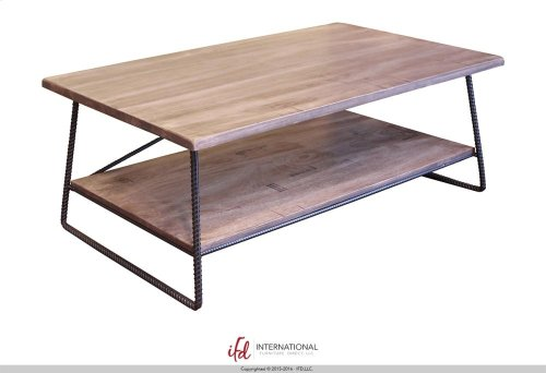 Cocktail Table w/1 Wooden Shelf