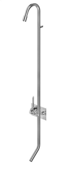The Solid Stainless Steel Construction Makes This Thermostatic Shower Column With Foot Wash Ideal for Outdoor Installations as Well as Indoor