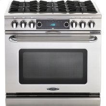"36"" 6 Burner Gas Convection Range, Dual Fuel, Self Clean"