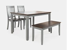 Decatur Lane 4pack Dining Set - Autumn Brown/grey