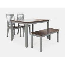 Decatur Lane 4pack Dining Set - Autumn Brown/grey