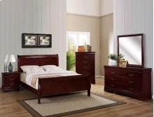 Louis Philip King Sleigh Bed Cherry