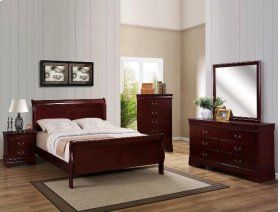 5 PC. Cherry Louie Philipe Bedroom Suite