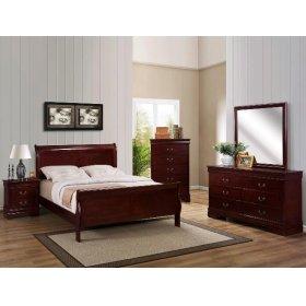 5 PC. Cherry Louie Philipe Bedroom Suite