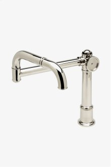 On Tap Deck Mounted Articulated Pot Filler with Metal Wheel Handle STYLE: OTPF20