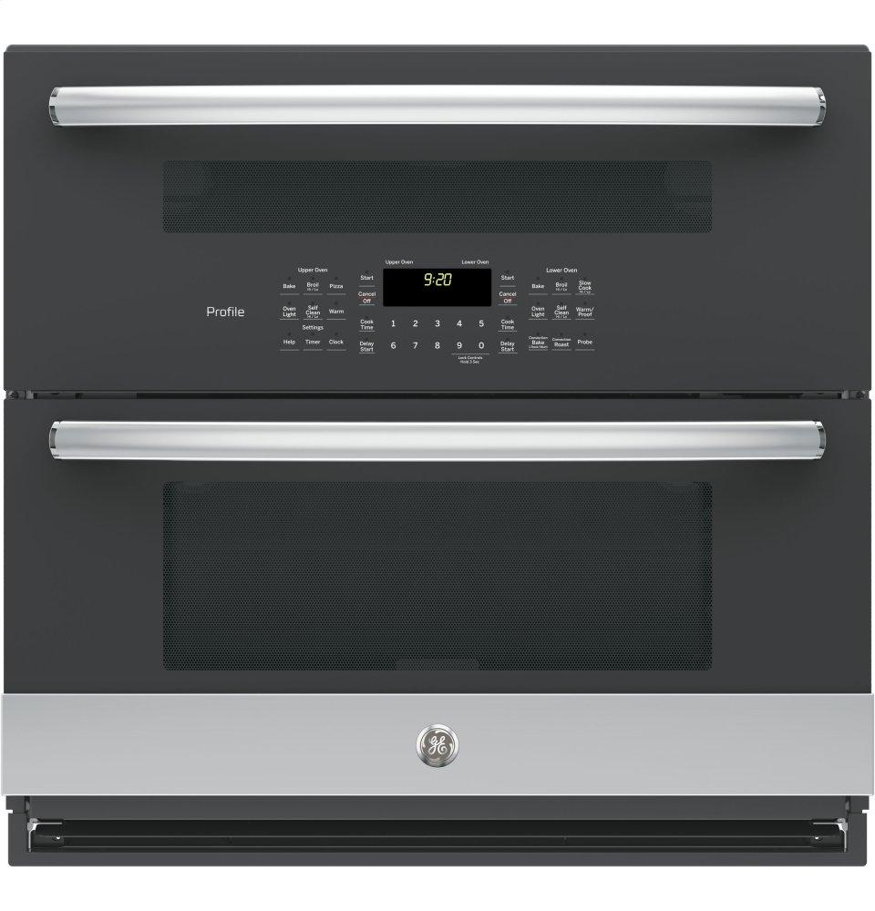"GE Profile(TM) Series 30"" Built-In Twin Flex Convection Wall Oven
