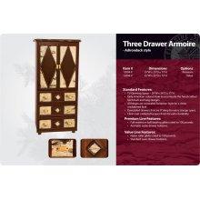 Adirondack Three Drawer Armoire