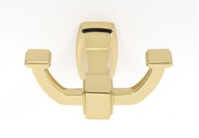 Cube Robe Hook A6584 - Polished Brass