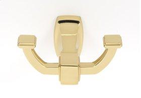 Cube Robe Hook A6584 - Polished Brass