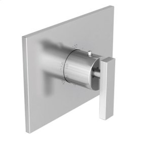 Satin Brass - PVD Rectangular Thermostatic Trim Plate with Handle