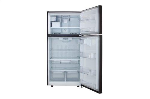 "LG Black Stainless Steel 24 cu. ft Large Capacity 33"" Wide Top Freezer Refrigerator"