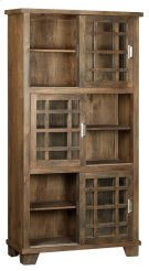 Bengal Manor Mango Wood Sliding Door 3 Tier Bookcase Product Image