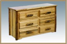 Glacier Country Log 6 Drawer Dresser