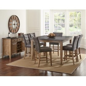 Debby Bluestone Counter  Height Table Top with 6 Stools