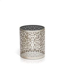 Carole Round Gray Glass End Table