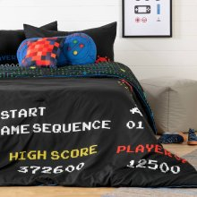 Kids Bedding set: Comforter, Pillowcase and decorative cushions Video Game - 54''
