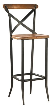Metal Cross Bar Stool