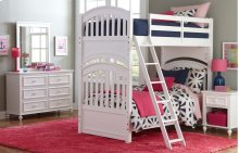 Academy - White Twin Over Twin Bunk Bed 3/3
