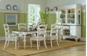 Pine Island Leg Extension Table - Old White Finish With Dark Pine Top