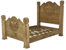 King Country Bed W/Rope&Star
