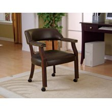 Traditional Charcoal Home Office Chair