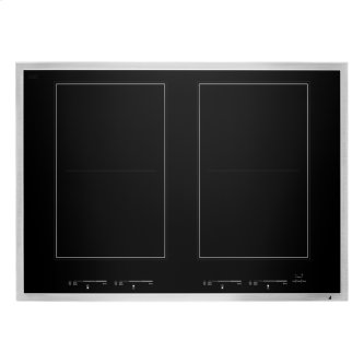 """30"""" Lustre Stainless Induction Flex Cooktop, Stainless Steel"""