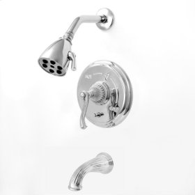 3200 Series Pressure Balance Tub and Shower Set with Devon Handle (available as trim only P/N: 1.324568DT)