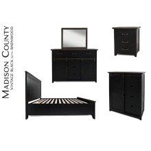 Madison County King Panel Bed - Vintage Black