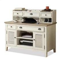 Coventry Credenza Desk Weathered Driftwood/Dover White finish
